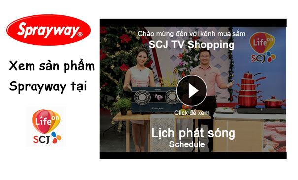 Lịch phát sóng SPRAYWAY trên SCJ TV - The schedule showing SPRAYWAY on TV